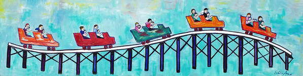 Memorabilia Art Print featuring the painting Roller Fun by Patricia Arroyo