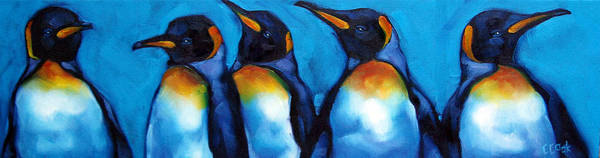 Animals Art Print featuring the painting 5 Kings by Carrie Cook