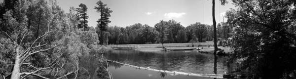 Black And White Art Print featuring the photograph At The Park by Derek Clark