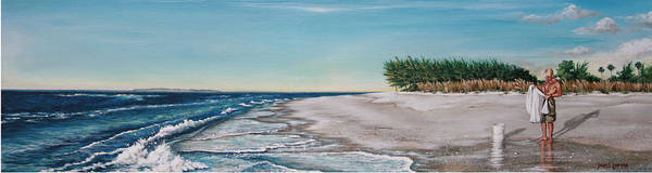 Beach Art Print featuring the painting Bean Point by Joan Garcia