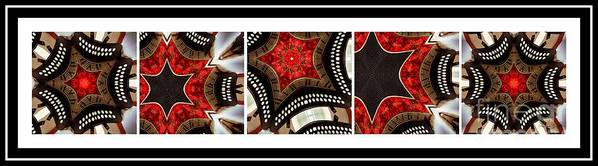 Dancing A Jig Art Print featuring the photograph Dancing A Jig - Accordion - Pentaptych by Barbara Griffin