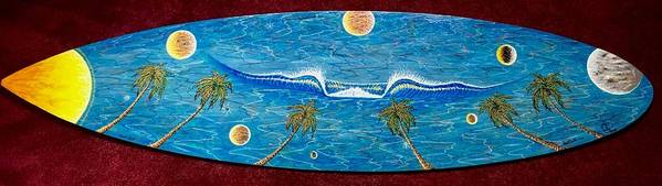 Planet Surf Art Print featuring the painting Planet Surf by Paul Carter