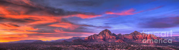 Sedona Art Print featuring the photograph Sedona Arizona At Sunset by Eddie Yerkish