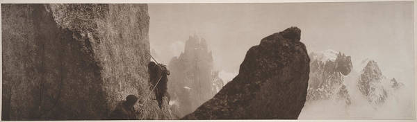 Photography Art Print featuring the photograph Early Mountaineering In The Alps by Georges Tairraz