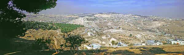 Jerusalem Art Print featuring the photograph Jerusalem Panorama by Daniel Blatt
