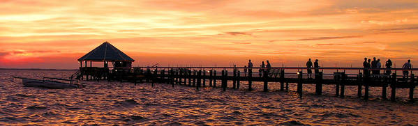 Panaramic Art Print featuring the photograph Hut Pier In The Outer Banks by Gene Sizemore