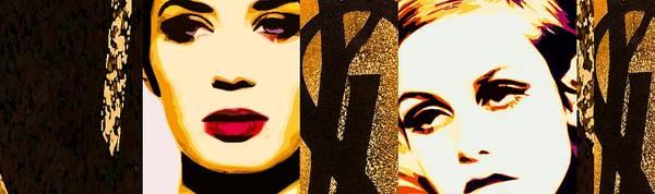 Designer Fashion Art Print featuring the painting Yls Retrospective by Lelia DeMello