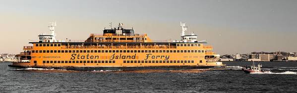 Staten Art Print featuring the photograph Ferry Time by Justin Robertson