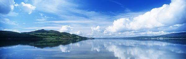 Cloud Art Print featuring the photograph Reflection Of Clouds In Water, Lough by The Irish Image Collection