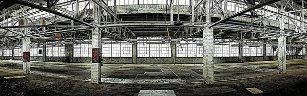 Warehouse Art Print featuring the photograph The Factory by Alan Skonieczny