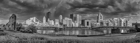 Pittsburgh Art Print featuring the photograph Brooding Above The Burgh by Jennifer Grover