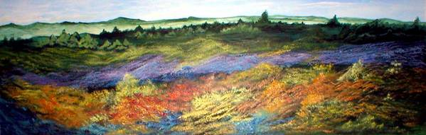 Landscape Art Print featuring the painting Field Of Dreams by Rhonda Myers
