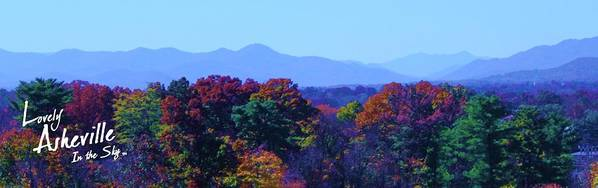 Asheville Nc North Carolina Biltmore House And Gardens Largest House In America Blue Ridge Mountains Grove Park Inn Tourist Tourists Vacation Bed And Breakfast Attractions Music Art Culture Bele Chere Goombay River Arts District French Broad River National Park Parks President Barack Obama First Lady Michelle Wilbur Ray Mapp Fall Leaves Range Christmas Xmas Holiday Holidays New Year Art Print featuring the photograph Lovely Asheville Fall Mountains by Ray Mapp