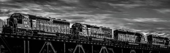 Train Art Print featuring the photograph Pan Am Railways 618 616 609 by Bob Orsillo