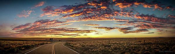 Sunset Art Print featuring the photograph Sunset Road by Gary Mosman