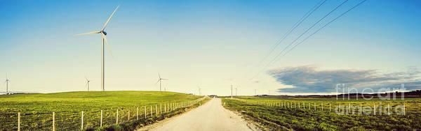 Windfarm Art Print featuring the photograph Windfarm Way by Jorgo Photography - Wall Art Gallery