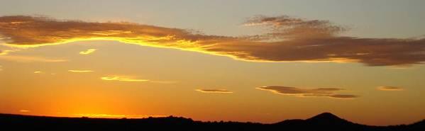 Sunset Art Print featuring the photograph Yellow Sky Three by Ana Villaronga