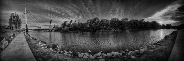 Keeper Of The Plains Art Print featuring the photograph Arkansas River Panorama by Caleb McGinn