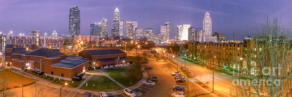 Charlotte Print featuring the photograph Charlotte Blue Hour by Abe Pacana