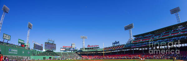 Fenway Print featuring the photograph Fenway Park- Home Of The Boston Red Sox by Diane Diederich