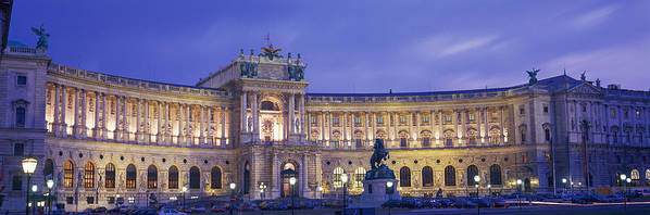 Photography Art Print featuring the photograph Hofburg Imperial Palace, Heldenplatz by Panoramic Images