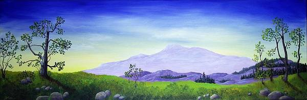 Malakhova Print featuring the painting Lonely Mountain by Anastasiya Malakhova