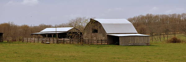 Barn Art Print featuring the photograph Barn In The Ozarks by Marty Koch