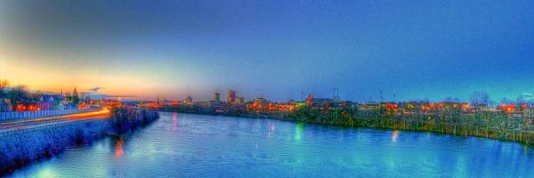 Hdr Art Print featuring the photograph Over The River by Mike Berry