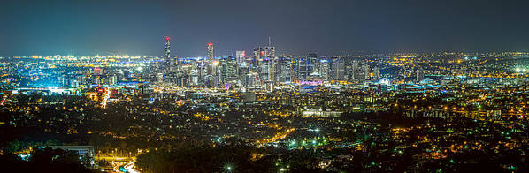 Mt Cootha Art Print featuring the photograph Stadium To Stadium by Mark Lucey