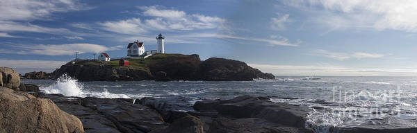 Lighthouse Art Print featuring the photograph Nubble Lighthouse by David Bishop
