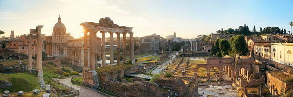 Rome Art Print featuring the photograph Rome Forum by Songquan Deng