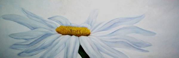 Flower Art Print featuring the painting Daisy by Elsa Gallegos