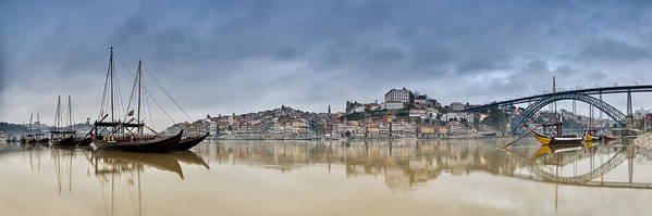 Boats Art Print featuring the photograph Douro by Homydesign