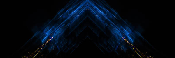 Prism Art Print featuring the photograph Lightpainting Panorama Print Photograph 5 by John Williams