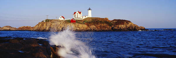 Architecture Art Print featuring the photograph Nubble Lighthouse In Daylight by Jeremy Woodhouse