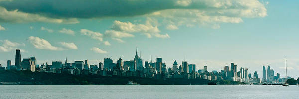 Building Color River Nyc Skyline Landscape Cityscape B&w Art Print featuring the photograph Nyc 958 by Arthur Sa