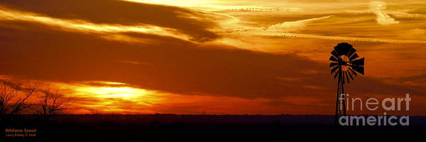 Landscape Art Print featuring the photograph Oklahoma Sunset by Larry Keahey
