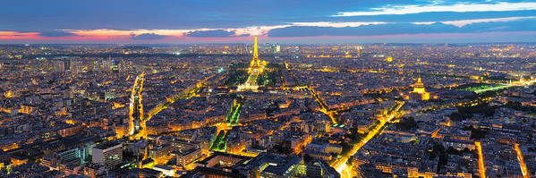 3:1 Art Print featuring the photograph Paris Panorama by Andre Distel