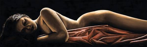 Nude Art Print featuring the painting Reverie by Richard Young