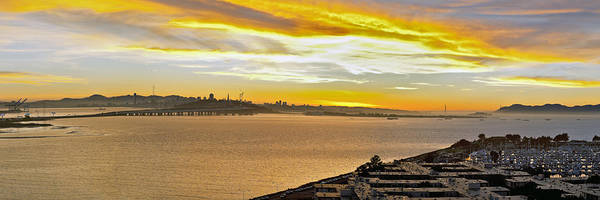 San Francisco Bay Print featuring the photograph Sunset Bay by Kelley King