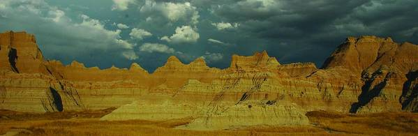 South Dakota Art Print featuring the photograph The Badlands by Julie Clements