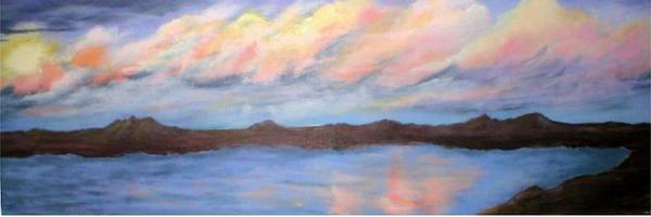 Clouds Art Print featuring the painting The Clouds Roll By by Rhonda Myers