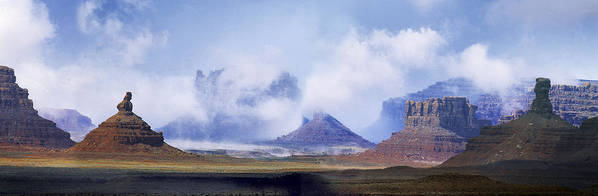 Utah Art Print featuring the photograph Valley Of The Gods by Leland D Howard