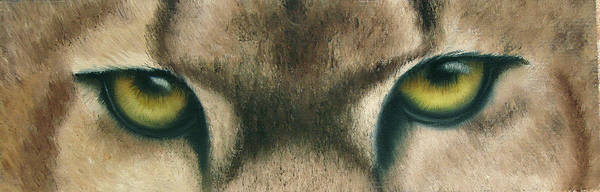 Panther Eyes Art Print featuring the painting Whos Watching Who Panther by Darlene Green