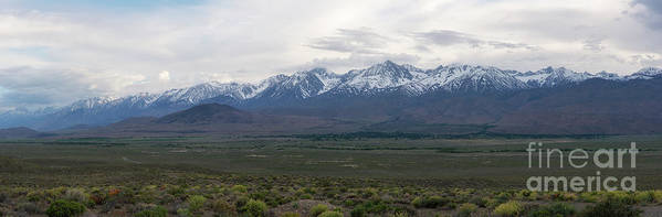 Owens Valley Art Print featuring the photograph Big Pine California Overlook by Michael Ver Sprill