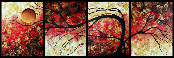 Art Print featuring the painting Abstract Art Original Landscape Painting Bring Me Home By Madart by Megan Duncanson