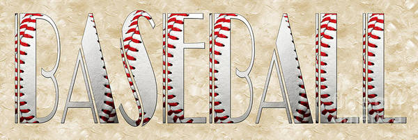Baseball Art Print featuring the photograph The Word Is Baseball by Andee Design