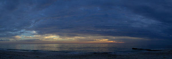 Seascape Prints Art Print featuring the photograph Madiera Beach Panorama by T C Creations