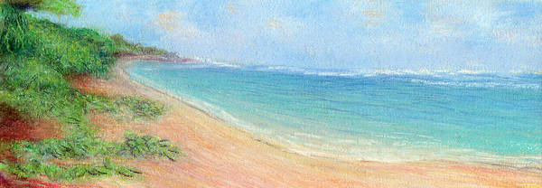Rainbow Colors Pastel Art Print featuring the painting Aliomanu Beach by Kenneth Grzesik