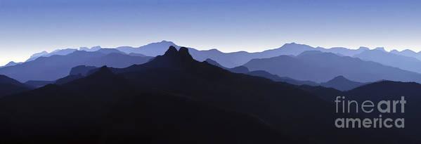 Blue Ridge Mountains Art Print featuring the photograph Blue Ridge Mountains. Pacific Crest Trail by David Zanzinger